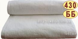 Полотенце 70х140 см белого цвета 430 г/м2