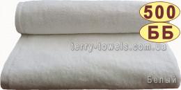 Полотенце 40х70 см белого цвета 500 г/м2