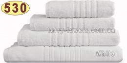 Полотенце 50х70 см белого цвета 530 г/м2