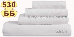 Полотенце 50х70 см белого цвета без бордюра 530 г/м2