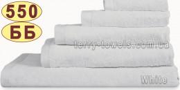 Полотенце 50х70 см белого цвета 550 г/м2